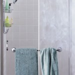 Shower Door with and without Soft Water